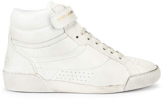 Saint Laurent High Top Sneaker in White | FWRD