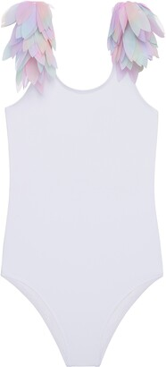 Stella Cove Kids' Dipped Shoulder Petal One-Piece Swimsuit