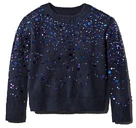 Rockets of Awesome Girls' Paillette Spray Sweater - Little Kid, Big Kid