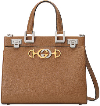 Gucci Zumi Top Handle Bag in Taupe | FWRD