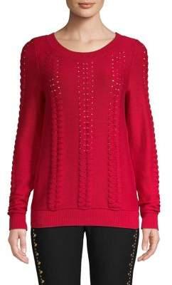 MICHAEL Michael Kors Cable-Knit Cotton Sweater