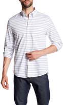 Jack Spade Palmer Horizontal Stripe Trim Fit Shirt