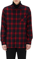 Andersson Bell ANDERSSON BELL MEN'S BUFFALO-CHECKED FLANNEL LONGLINE SHIRT