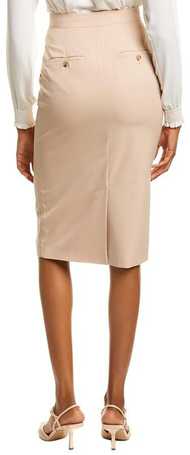 Thumbnail for your product : Max Mara Frais Wool Pencil Skirt