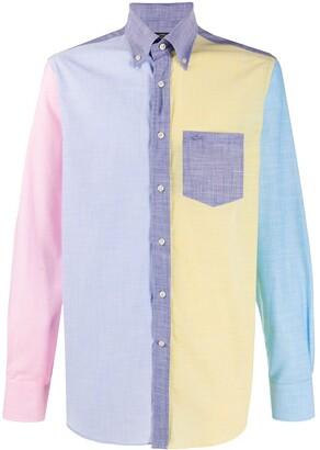 Paul & Shark Colour-Block Fitted Shirt