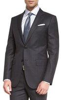 Ermenegildo Zegna Wool Windowpane Two-Piece Suit, Charcoal