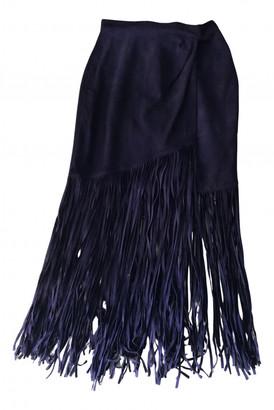 Tamara Mellon Purple Suede Skirts