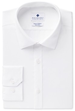 Ryan Seacrest Distinction Men's Ultimate Slim-Fit Non-Iron Performance White Dress Shirt, Created for Macy's