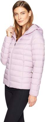 Amazon Essentials Women's Water-Resistant Packable Hooded Down Jacket Outerwear