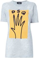 DSQUARED2 hand print T-shirt