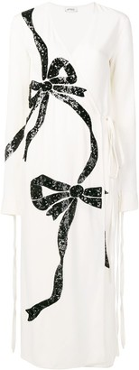 ATTICO Sequin Embroidered Bow Dress