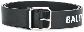Balenciaga logo print belt