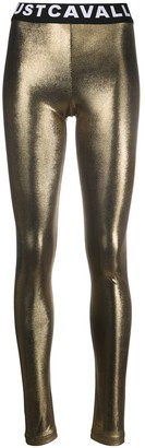 Just Cavalli Metallic Logo Leggings