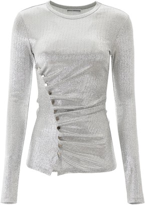 Paco Rabanne Long Sleeved Metallic Top