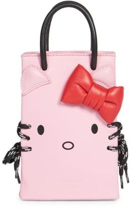 Balenciaga Kitty Leather Phone Case