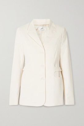 Coperni Trompe L'oeil Stretch Cotton-blend Blazer - Cream