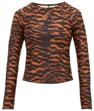 The Upside Imogen Tiger-print Rash Guard - Womens - Animal