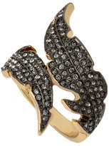 Betsey Johnson Angels And Wings Feather Ring