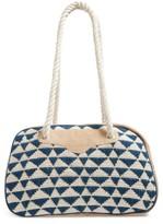 Sole Society Getaway Woven Weekend Bag - Blue