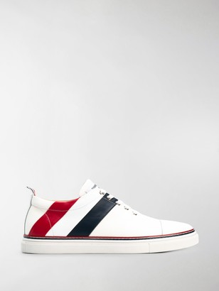 Thom Browne Striped Lace-Up Sneakers