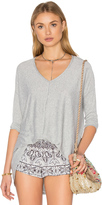 Bobi Knit Gauze 3/4 Sleeve Top