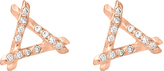 Tiny Trina Stud Earrings with Diamonds