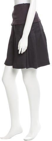 Nina Ricci Silk Pleated Skirt