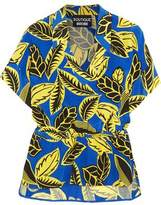 Moschino Printed Crepe De Chine Blouse