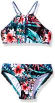 Seafolly Swimsuit Enfant 2 Pieces Reversible Tropical Vacation Reverse Multicolore