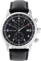 Paul Smith P10140 Block stainless steel and leather watch