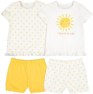 La Redoute Collections Pack of 2 Cotton Short Pyjamas with Sun Print, 3-12 Years