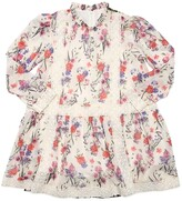 Alberta Ferretti FLOWERS PRINT CREPE DE CHINE DRESS