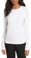Tibi Women's Long Sleeve Mercerized Cotton Tee