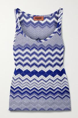 Missoni Crochet-knit Tank - Royal blue