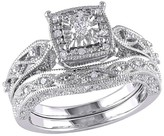 Allura 1/5 CT. T.W. Diamond Bridal Ring Set in Sterling Silver (GH I2-I3)