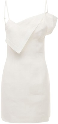 Jacquemus Back Cut Out Linen Mini Dress