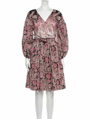 Liberty of London Designs Floral Print Knee-Length Dress Pink