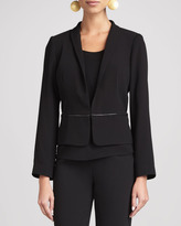 Eileen Fisher Tropical Suiting Jacket, Black