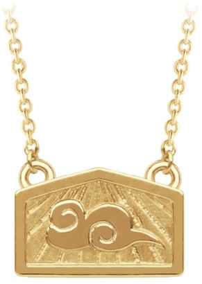 A World Entire Inspiration & Dreams - Cloud Mini Wish Necklace in 18ct Yellow Gold