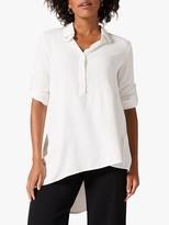 Phase Eight Liadan Asymmetric Shirt, White