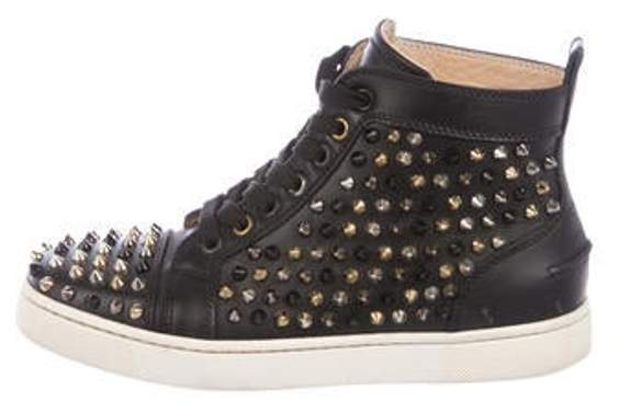 online store 59052 db845 Louis Flat Spike Sneakers Black Louis Flat Spike Sneakers