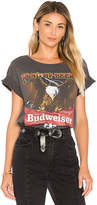 Junk Food Clothing Budweiser Tee in Black. - size L (also in M,S,XS)
