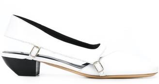 Coperni Square Toe 35mm Slingback Strap Ballerinas