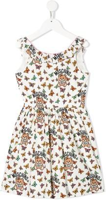 MOSCHINO BAMBINO Sleeveless Butterfly Print Dress