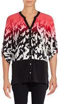 Calvin Klein Mixed Media Ombre Shirt
