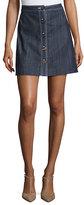 ADAM by Adam Lippes Denim A-Line Mini Skirt, Indigo