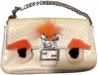 Fendi Baguette Beige Python Handbags