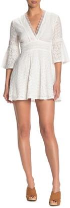 Do & Be Eyelet Bell Sleeve Mini Dress