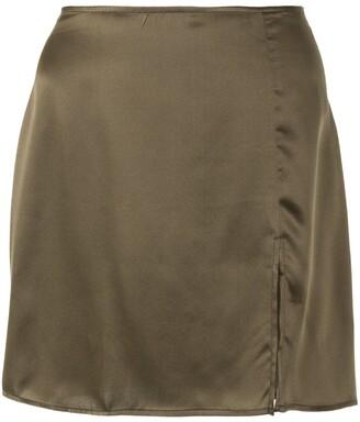 Reformation Robbie side-slit mini-skirt
