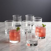 Crate & Barrel Set of 8 Boxed Double Old-Fashioned Glasses